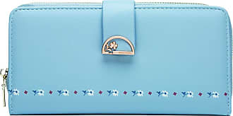 Craze London PU Leather Wallet for Women Ladies Coin Zipper Long Purse with Multiple Card Slots and Card Holders Phone Pocket