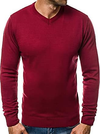 OZONEE Herren Strickpullover Pullover Feinstrick Sweatshirt Pulli Modern  Basic V-Neck Unifarben Täglichen O  d4d87077f5