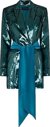 Michael Lo Sordo High-shine belted blazer dress - Blue