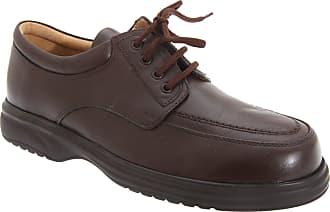 Roamers Mens Superlite Wide Fit Mudguard Tie Leather Shoes (9 UK) (Brown)
