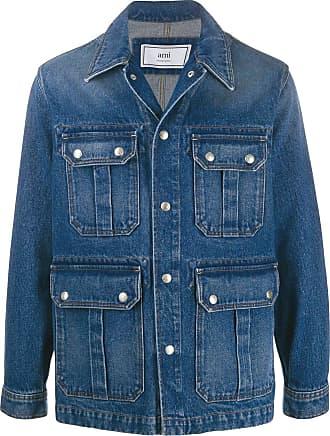 Ami Jaqueta jeans com efeito desbotado - Azul