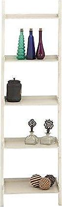 UMA Enterprises Inc. Deco 79 96198 Wood Leaning Shelf, 20 by 68, 20 x 68, Antique White