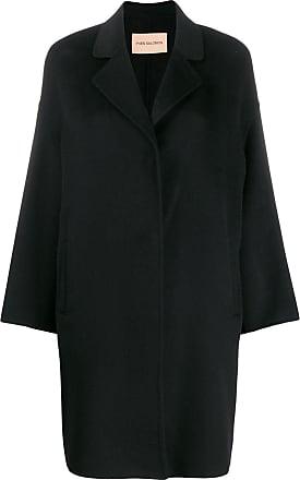 Yves Salomon cashmere egg-shape coat - Black