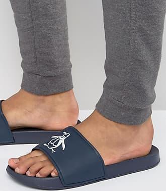 Original Penguin Slider Flip Flops - Blue