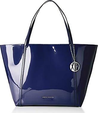 9d044a5b8d Armani Medium Shopping Bag - Borse Tote Donna, Blu (Navy), 32x13.