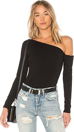Susana Monaco Asymmetrical One Shoulder Top in Black