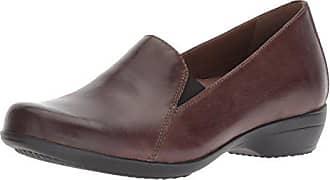 Dansko Womens Farah Loafer Flat, Chocolate Burnished Calf, 37 M EU (6.5-7 US)