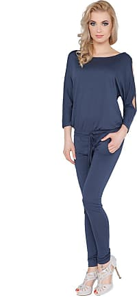 FUTURO FASHION Womens Jumpsuit with Pockets Boat Neck Open 3/4 Sleeve Playsuit Sizes 8-14 1081
