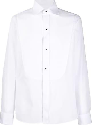 Canali Camisa com colarinho pontiagudo - Branco