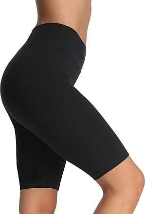 iLoveSIA Womens Yoga Shorts Seamless Workout Capri Legging 1/2 Length Black Size S