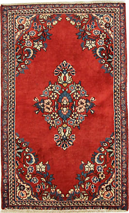 Nain Trading 101x59 Authentic Sarouk Rug Dark Brown/Rust (Wool, Iran/Persia, Hand-Knotted)