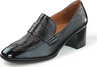 Paul Green Loafers made of creased calfskin patent leather Paul Green black