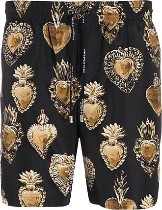 Dolce & Gabbana Short com estampa de coração - Preto