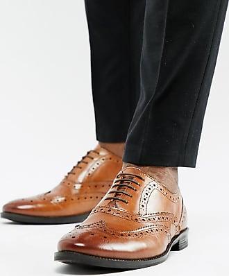 e0abae97e7c Asos Zapatos Oxford de cuero tostado de corte ancho de ASOS DESIGN
