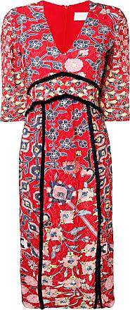 Peter Pilotto floral print dress - Vermelho