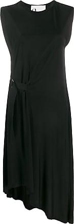 8pm side buckle dress - Black