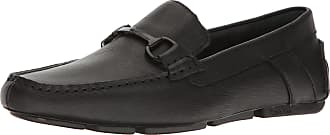 Calvin Klein Mens MOX Weave Emboss Driving Style Loafer, Black, 10.5M M US