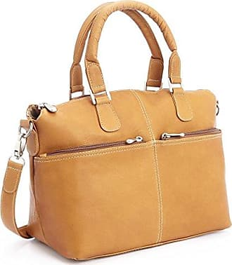 Royce Leather Luxury Travel Weekender Duffel Bag Handcrafted in Colombian Leather, Tan, One Size