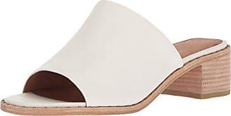 34342a468cf0a Frye Womens Cindy Mule Heeled Sandal, White, 9 M US
