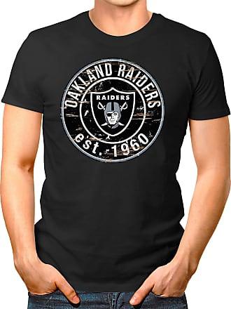 OM3 Oakland-Badge - T-Shirt | Mens | American Football Shirt | 3XL, Black