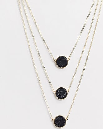 7X SVNX triple layer marble necklace-Gold
