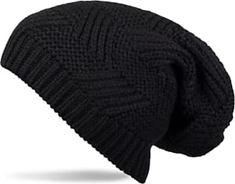 styleBREAKER Classic Unisex Long Beanie hat with Textured Pattern 04024017, Color:Black