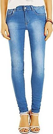 Bestyledberlin Damen High Waist Skinnyjeans, Basic Blue