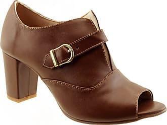 Arzon Open Boot em Couro Legítimo Chocolate