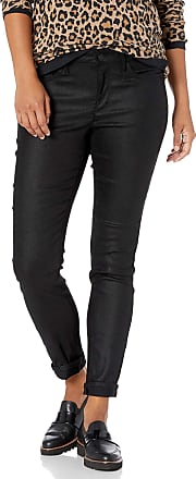NYDJ Womens Petite Size Alina Skinny Faux Suede Jeans, Black, 4