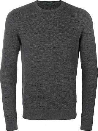 Zanone Suéter de tricô com textura - Cinza