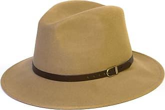Hat To Socks Wool Fedora Felt Trilby Hat (58 cm, Beige)