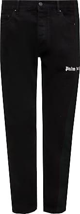 Palm Angels Logo-printed Jeans Mens Black