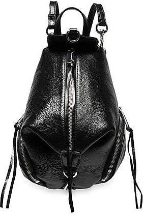Rebecca Minkoff Rebecca Minkoff Woman Julian Mini Covertible Glossed Textured-leather Backpack Black Size