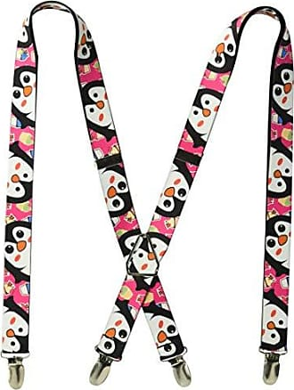 Buckle Down Buckle-Down Mens Suspender-Penguins, Multicolor, One Size