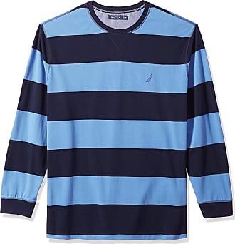 Nautica Mens $49.50 Blue Sweater Shirt Long Sleeve 1//4 Zip Up Shirt Size Large