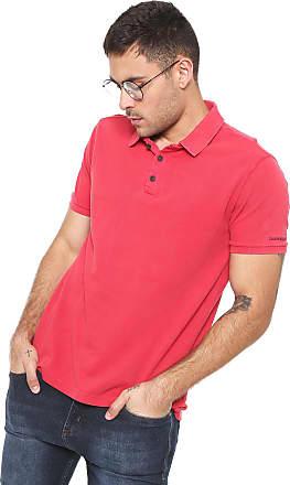 945c38617 Calvin Klein Jeans Camisa Polo Calvin Klein Jeans Reta Vermelha