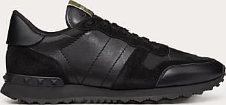 Valentino Garavani Valentino Garavani Uomo Camouflage Noir Rockrunner Sneaker Man Black Lambskin 50%, Cotton 30%, Polyester 20% 39.5