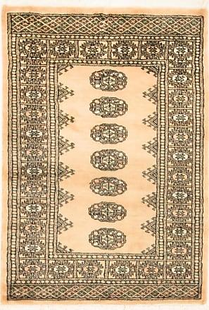 Nain Trading 123x79 Oriental Pakistan Buchara 3ply Rug Dark Brown/Pink (Wool, Pakistan, Hand-Knotted)
