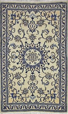 Nain Trading 146x69 Nain Rug Runner Dark Grey/Beige (Iran/Persia, Wool/Silk, Hand-Knotted)
