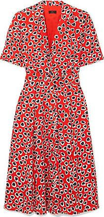 J.crew Rudbeckia Printed Crepe Dress - Red