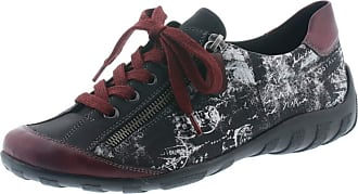 Remonte Reel Womens Lace Up Shoes Burgundy Red Black Size: 7 UK
