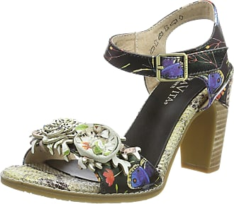 Laura Vita Womens DALI 03 Ankle Strap Sandals, Black-Noir, 6 UK