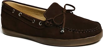 Driver Club USA Womens Leather Made in Brazil Boat Shoe with Tiebow Detail, Brown Nubuck/Natural Sole, 6.5 UK