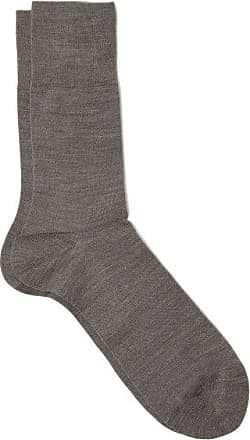 Falke Airport Virgin Wool-blend Socks - Mens - Mid Grey
