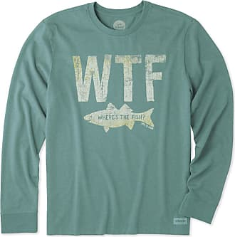 Life is good Mens WTF Long Sleeve Crusher Tee XXXL Heather Forest Green