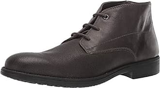 Geox Mens Jaylon 25 Ankle Boot Oxford, Black Charcoal 42 Medium EU (9 US)