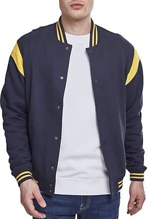 Urban Classics Inset College Jacket NavyChrome Yellow