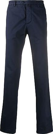 Kiton straight-leg chinos - Blue