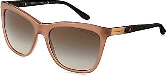 Ralph Lauren Ralph Lauren Sunglasses Womens Plastic Woman Sunglass Square, TAUPE, 55 mm