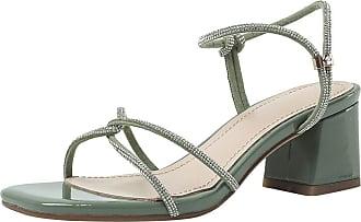 Mediffen Women Block Heels Open Toe Summer Slippers Fashion Mules Sandals Party Ladies Mid Heels Slides Sandals Comfort Outdoor Indoor Slippers Green Size 43 A